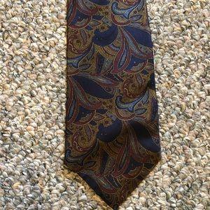 Vintage silk paisley tie